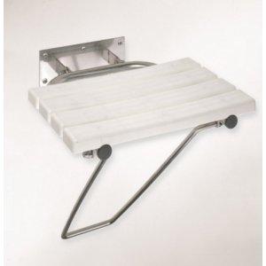 Bemeta HELP Sklopné sprchové sedátko s opernou nohou 440x460x470 mm, rôzne prevedenia
