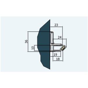 SanSwiss ESCURA V.ESC Nástenný profil s magnetickým tesnením