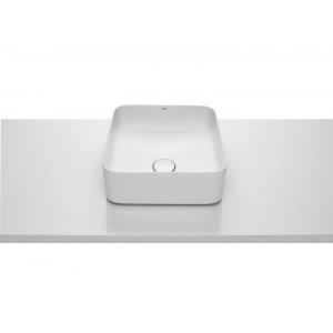 ROCA Inspira Umývadlová misa na dosku biela, rôzne tvary, 370 x 370 x 140 mm