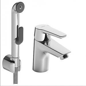 HANSA POLO Jednootvorová páková batéria pre umývadlo, DN 15 s funkčnou sprchou  chróm 51462293