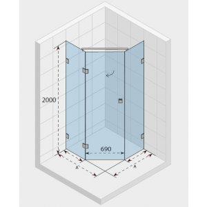 RIHO SCANDIC Sprchová zástena rôzne rozmerové prevedenia