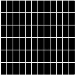 Paradyz Albir 29,8x29,8 cm nero matný MP298X2981ALBINE24 Mozaika B