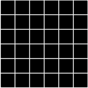 Paradyz Albir 29,8x29,8 cm nero MP298X2981ALBINE44 Mozaika C