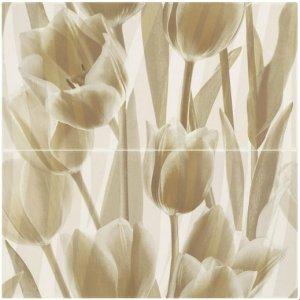 Paradyz Coraline 60x60 cm  lesklý IE600X6001CORATU Obklad Panel Tulipány