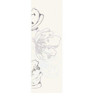 Paradyz Midian 20x60 cm bianco I200X6001MIDIBIK Obklad INSERTO Kvet