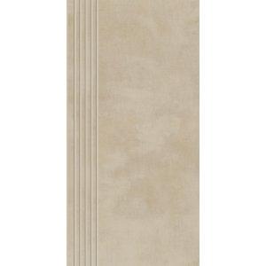 Paradyz Tecniq 29,8x59,8 cm béžová matný RN298X5981TECNBESPM Schodisková dlažba s výrezmi