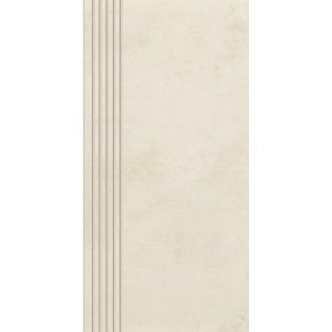 Paradyz Tecniq 29,8x59,8 cm bianco matný RN298X5981TECNBISPM Schodisková dlažba s výrezmi