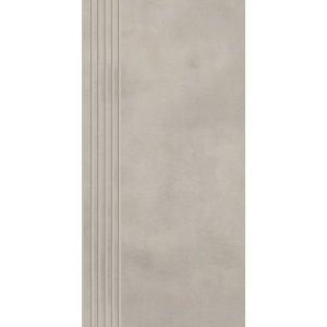 Paradyz Tecniq 29,8x59,8 cm grys matný RN298X5981TECNGRSPM Schodisková dlažba s výrezmi