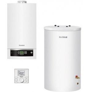 Buderus Systém EKONOMIK Zostava kondenzačného kotla so zásobníkom a regulátorom rôzne prevedenia