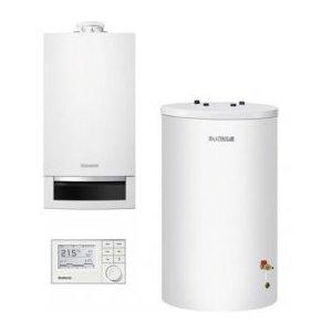 Buderus Systém KOMFORT Zostava kondenzačného kotla so zásobníkom a regulátorom rôzne prevedenia