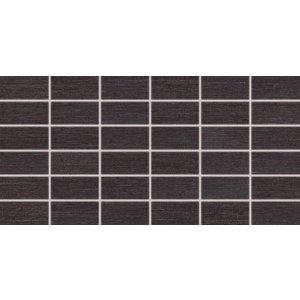 RAKO Fashion mozaika set 30x60 cm čierna 5x10 DDMBG624