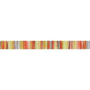 RAKO Tendence lištela ( Air ) červeno-zelená 60x5,5 WLASZ003