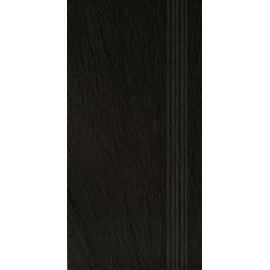RAKO Geo schodovka čierna  30x60 DCPSE314