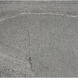 RAKO Random schodovka tmavá sivá 60x60 DCP63679