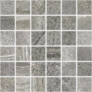 RAKO Random mozaika set 30x30 cm tmavá sivá 5x5 DDM06679