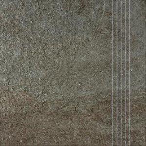 RAKO Como schodovka hnedo-čierna 33x33 DCP3B694