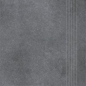 RAKO Form schodovka tmavá sivá 33x33 DCP3B697