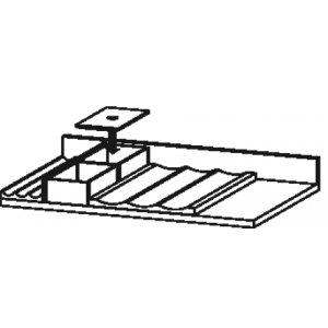 DURAVIT L-Cube UV985 Vnitřní vybavení 584 mm