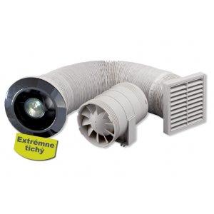 Zehnder Kúpeľňový ventilátor do sprchového kúta  biela, s osvetlením 276277