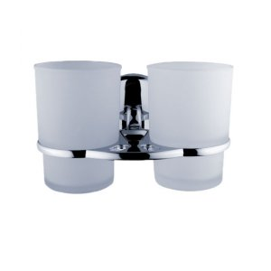 Nimco Kalypso Dvojitý držiak pohárov matné sklo KA 7458D-C-26 (KA7458D-C-26)