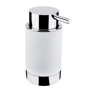 Nimco Lio Dávkovač na tekuté mydlo chróm, hebký povrch (soft touch)