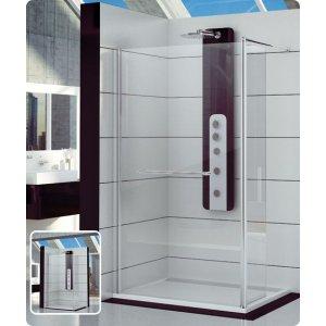 SanSwiss FUN FUD2 Pevná stena (kolmá ku stene kúpeľne) s krátkou otočnou stenou rôzne rozmery a prevedenia