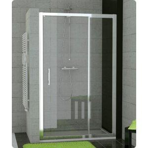 SanSwiss TOP line TED Jednokřídlé dveře s pevnou stěnou v rovině různé rozměry a provedení