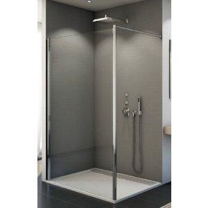 SanSwiss WALK in FUN FUN2 Pevná stena samostatná (kolmá ku stene kúpeľne) rôzne rozmery a prevedenia