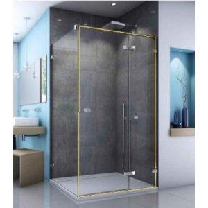 SanSwiss ESCURA ES13 Jednokřídlé dveře s pevnou stěnou v rovině různé rozměry a provedení