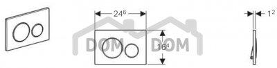 Geberit Sigma20 Ovládacie tlačidlo rôzne prevedenia