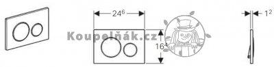 Geberit Sigma20 různá provedení 115.882 Ovládací tlačítko