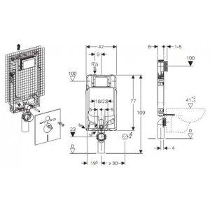 Geberit Kombifix Prvok pre závesné WC so splachovacou nádržkou Sigma 8 cm s prípravou pre odsávanie zápachu 110.791.00.1