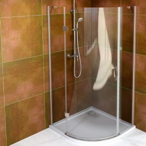 Sapho Legro štvrťkruhová sprchová zástena 900x900mm, číre sklo rôzne prevedenia
