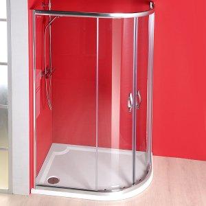 Sapho SIGMA štvrťkruhová sprchová zástena, R550, 2 dvere, L/R, číre sklo, rôzne prevedenia