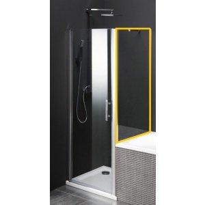 Sapho ONE sprchová zástena oddelujúca vaňu a sprchový kút, 800x800 mm, číre sklo