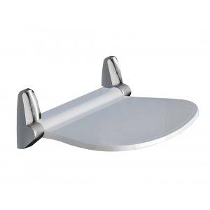 Sapho SOUND Kúpeľňové sedátko 38,5x35,4cm, sklopné, biela/chróm 2282