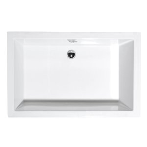 Sapho DEEP hlboká sprchovacia vanička, biela s podstavcom
