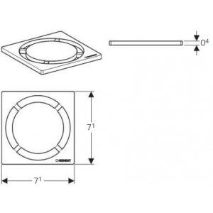 Geberit 154.311.00.1 Mřížka pro sprchový odtok design Kruh