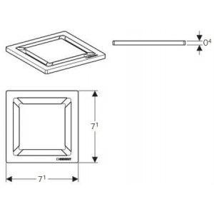 Geberit 154.312.00.1 Mřížka pro sprchový odtok design Čtverec