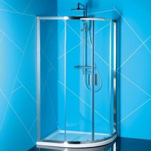 Sapho EASY LINE štvrťkruhová sprchová zástena, čire sklo, rôzne prevedenia