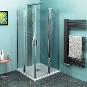 Sapho ZOOM LINE štvorcová sprchová zástena, číre sklo rôzne prevedenia