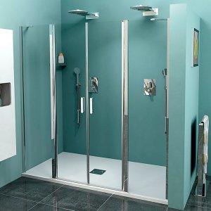 Sapho ZOOM LINE dvojité sprchové dvere, číre sklo, rôzne prevedenia