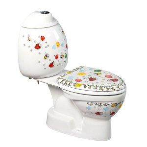 Sapho KID detské WC kombi vr.nádržky, spodný alebo zadný odpad, farebná potlač rôzne prevedenia