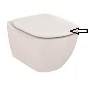 IDEAL Standard Tesi Klozetové sedátko wrapover Biela