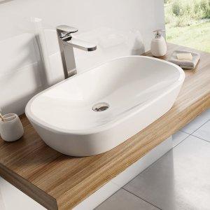 Ravak Ceramic Umývadlo O 600x400, biela, keramika O XJX01160001