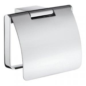 Smedbo Air Držiak toaletného papiera s krytom Leštený chróm AK3414