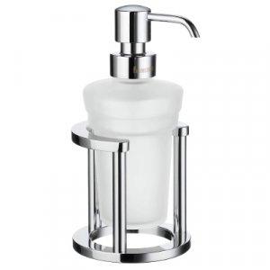 Smedbo Outline Dávkovač tekutého mydla 180 mm, leštený chróm / matné sklo FK201