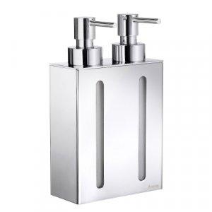 Smedbo Outline Dávkovač tekutého mydla, 2 nádoby 210 mm, leštený chróm FK258