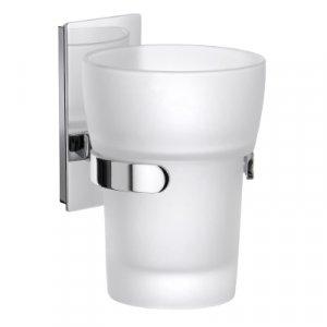 Smedbo Pool Pohár na zubné kefky s držiakom leštený chróm / matné sklo ZK343