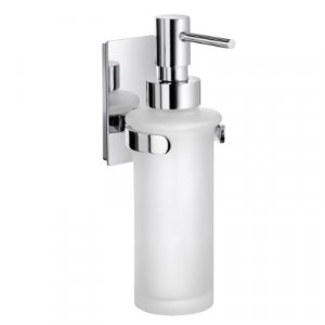 Smedbo Pool Dávkovač tekutého mydla 180 mm, leštený chróm / matné sklo ZK369